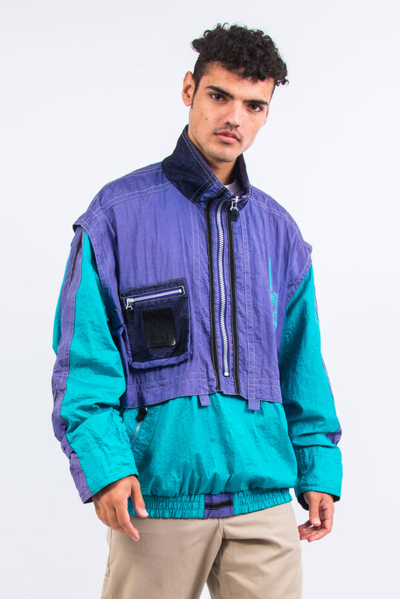 90's Colour Block Windbreaker Jacket