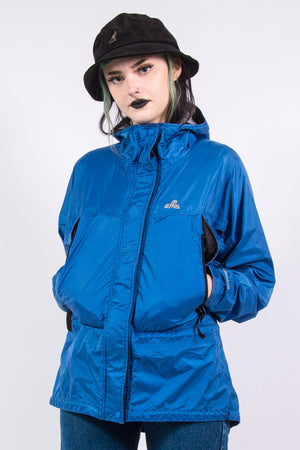 Vintage 90's Blue Hooded Rain Coat Cagoule
