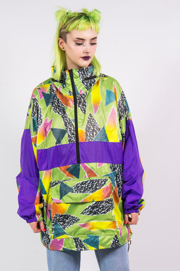 Vintage 90's Bright Cagoule 1/4 Zip Windbreaker Jacket