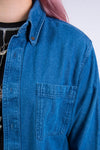 Vintage 90's Denim Button Front Shirt