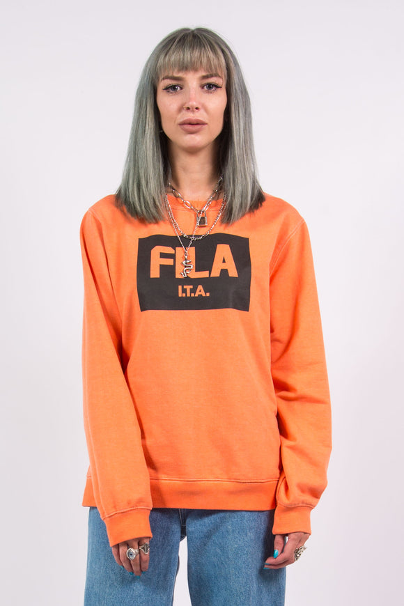 Vintage Y2K Orange Fila Sweatshirt