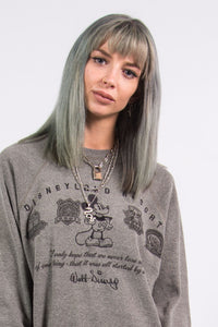 Vintage 90's Disneyland Mickey Mouse Grey Sweatshirt
