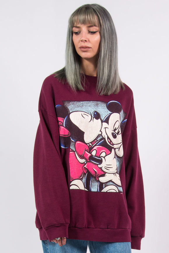 Vintage 90's Disney Minnie and Mickey Mouse Sweatshirt
