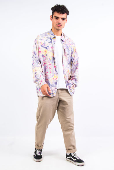 90's Vintage Pastel Patterned Shirt