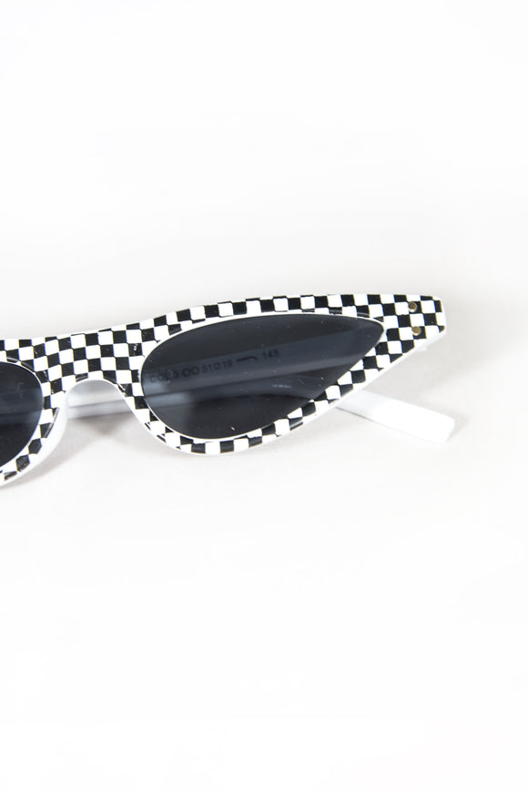 Amy Checker Skinny Sunglasses