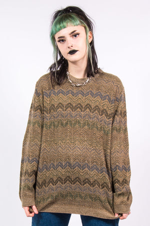 Vintage 90's Patterned Oversize Grunge Sweater