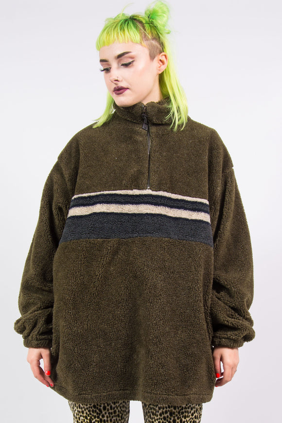 Vintage 90's Grunge Oversized Fleece Jumper