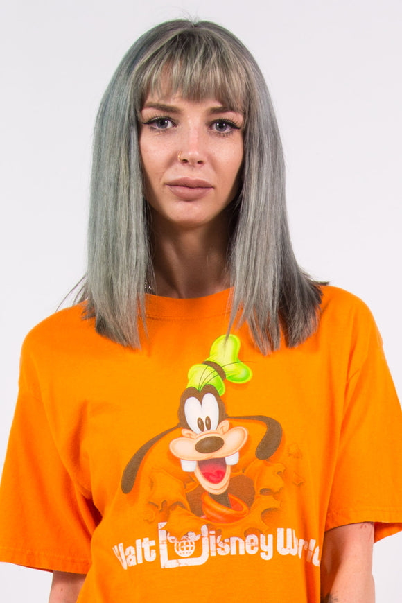 Vintage 90's Orange Disney Goofy T-Shirt