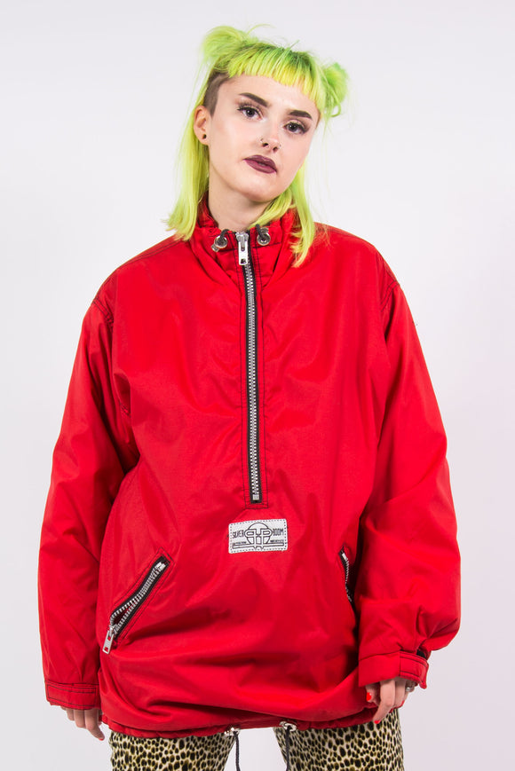 Vintage 90's Red Windbreaker Sports Coat