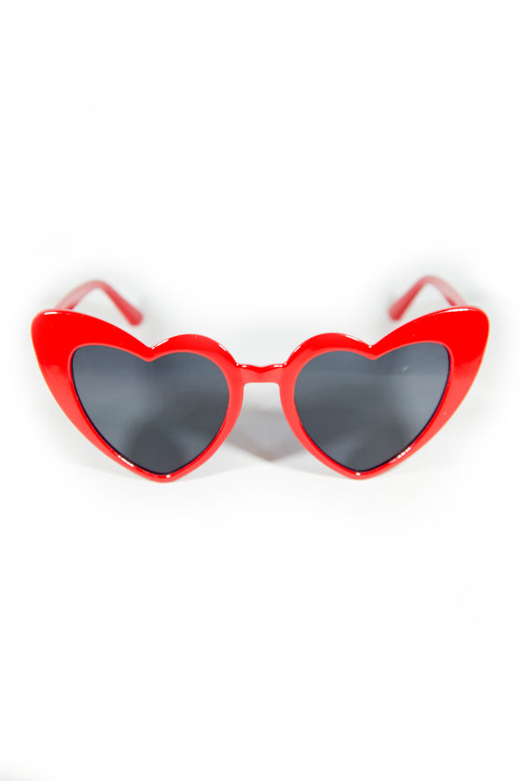 Heart Sunglasses - Red