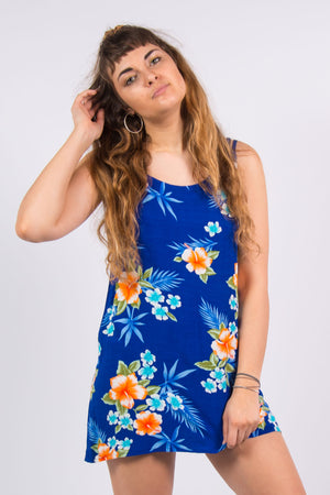 Vintage 90's Hawaiian Floral Dress