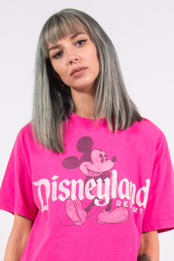 Vintage 90's Disneyland Pink Mickey Mouse T-Shirt