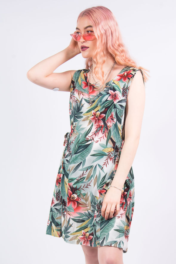 Vintage 90's Tropical Mini Dress