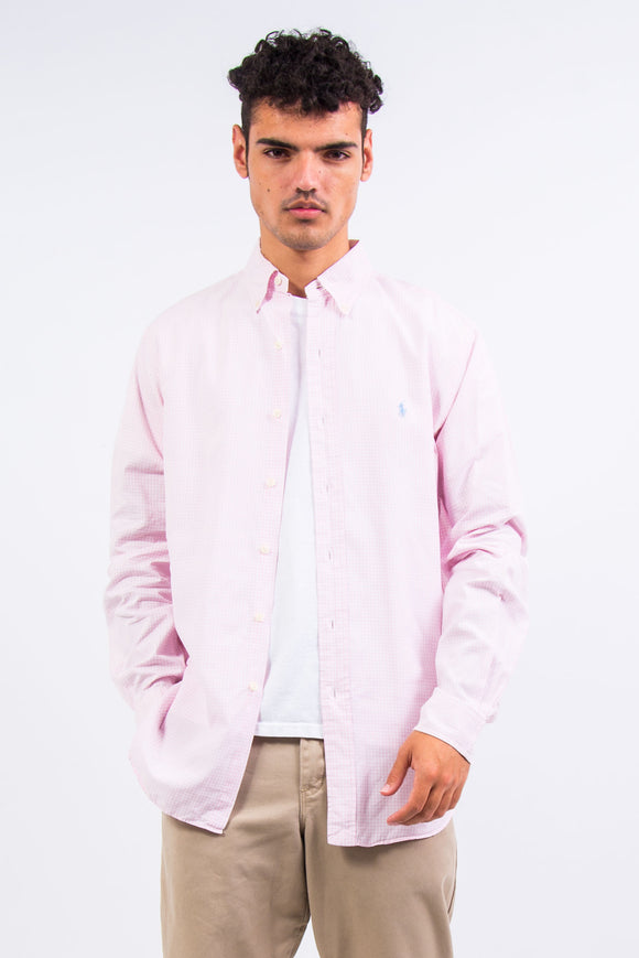 Ralph Lauren Pink Gingham Check Shirt