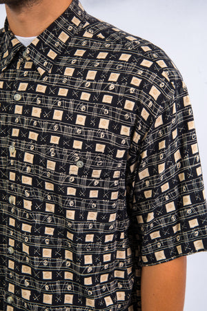 Vintage 90's Patterned Rayon Shirt