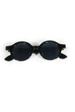 Monica Round Vintage Sunglasses - Black