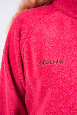 Vintage 90's Columbia Pink Fleece Jacket