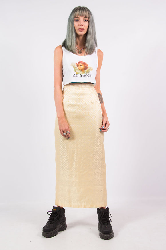 Vintage 90's Gold Maxi Skirt