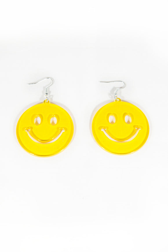 90's Smiley Face Yellow Earrings