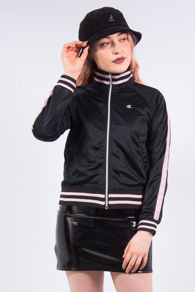 Vintage Y2K Champion Black Tracksuit Jacket