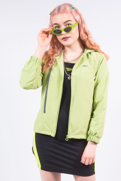 Y2K Reebok Lime Green Tracksuit Jacket Top