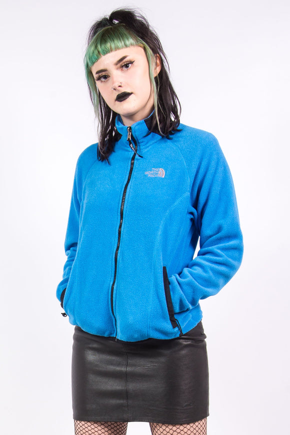 Vintage 90's The North Face Blue Fleece Jacket