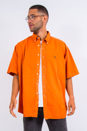 Vintage Ralph Lauren Orange Short Sleeve Shirt
