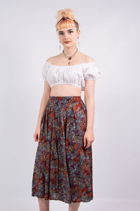 Vintage 90's Floral Floaty Culottes Shorts