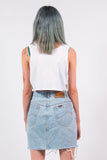 Vintage 90's Blue Distressed Denim Skirt