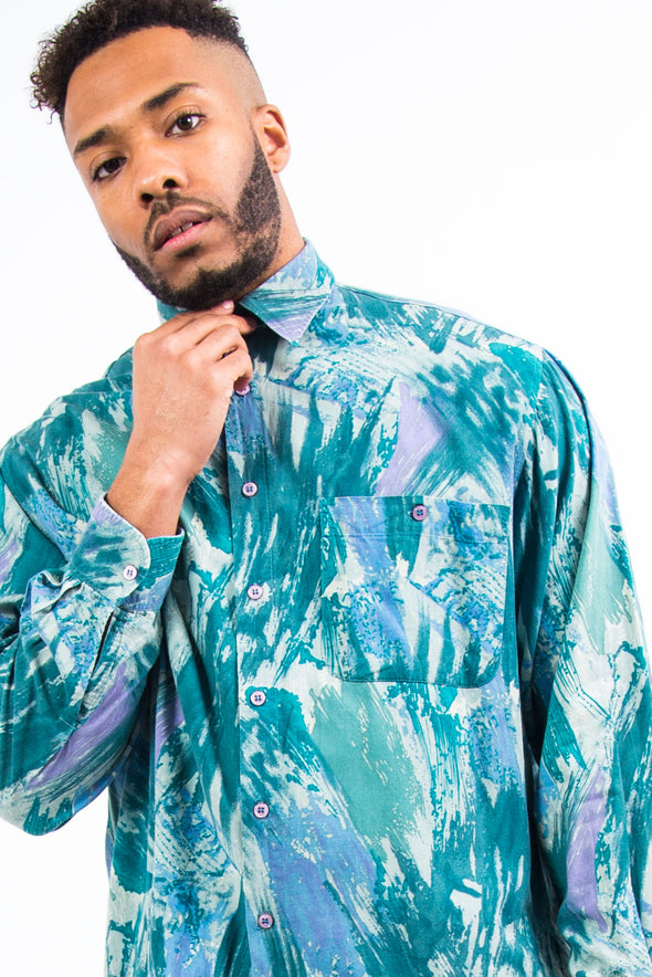 90's Vintage Abstract Pattern Shirt
