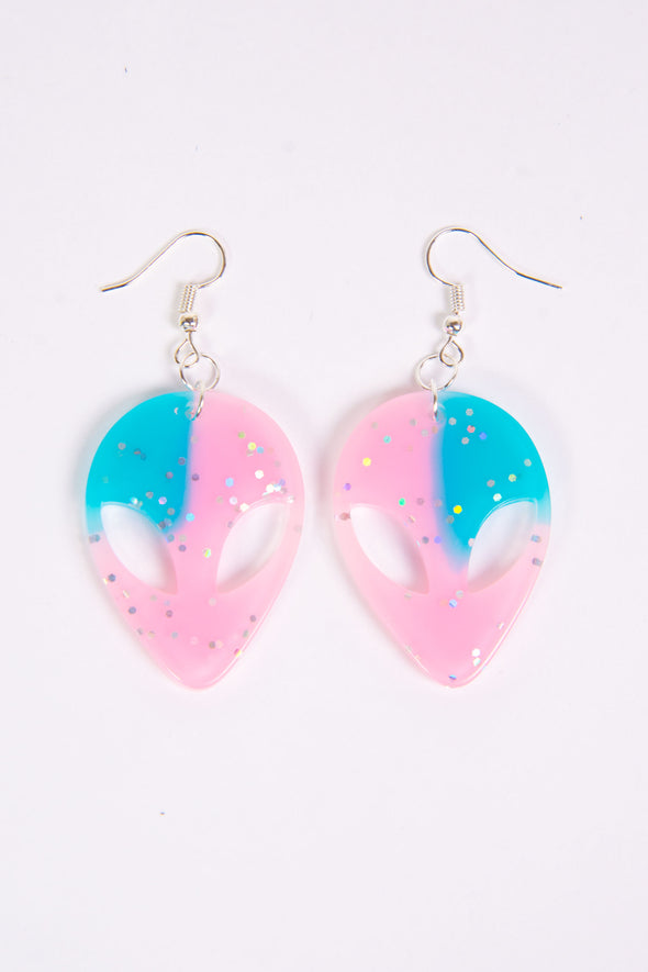 Alien Glitter Earrings