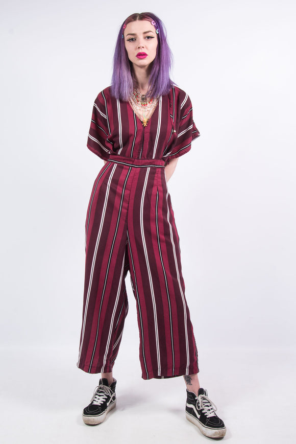 Pink Striped Jumpsuit