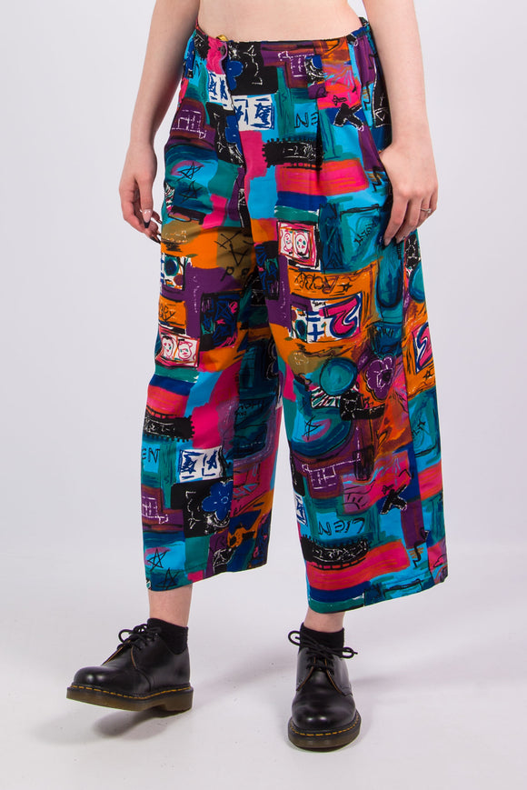 Vintage 90's Abstract Pattern Trousers
