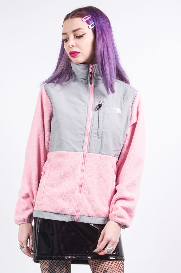 Vintage 90's Baby Pink The North Face Denali Fleece