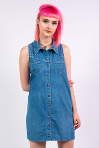 Vintage 90's Denim Mini Dress