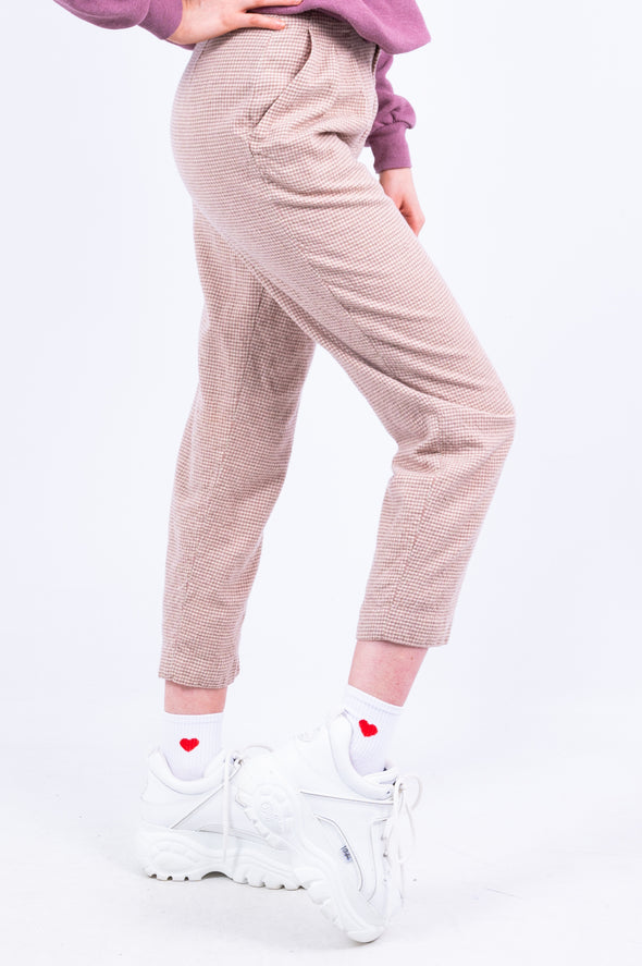 Vintage 90's High Waist Check Wool Trousers