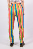 Vintage 90's Rainbow Striped Trousers