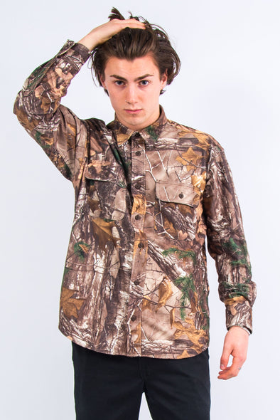 90's USA Woodland Camouflage Shirt
