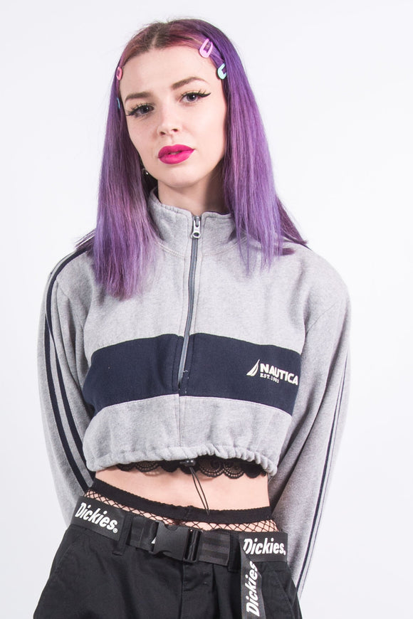 Nautica Cropped 1/4 Zip Sweatshirt
