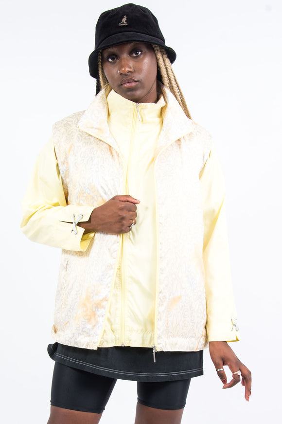 Vintage 90's Yellow Shell Jacket with Matching Shell Vest