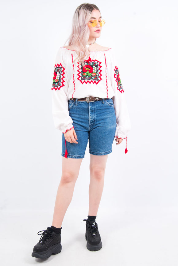 Vintage 90's High Waist Denim Mom Shorts