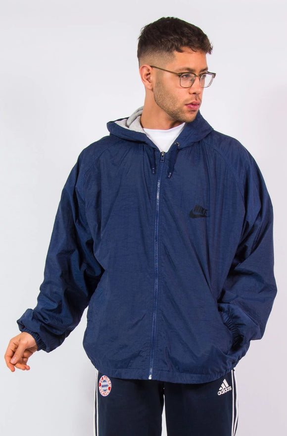 90's Vintage Nike Windbreaker Hooded Jacket