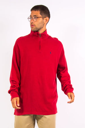 Red Ralph Lauren 1/4 Zip Sweatshirt