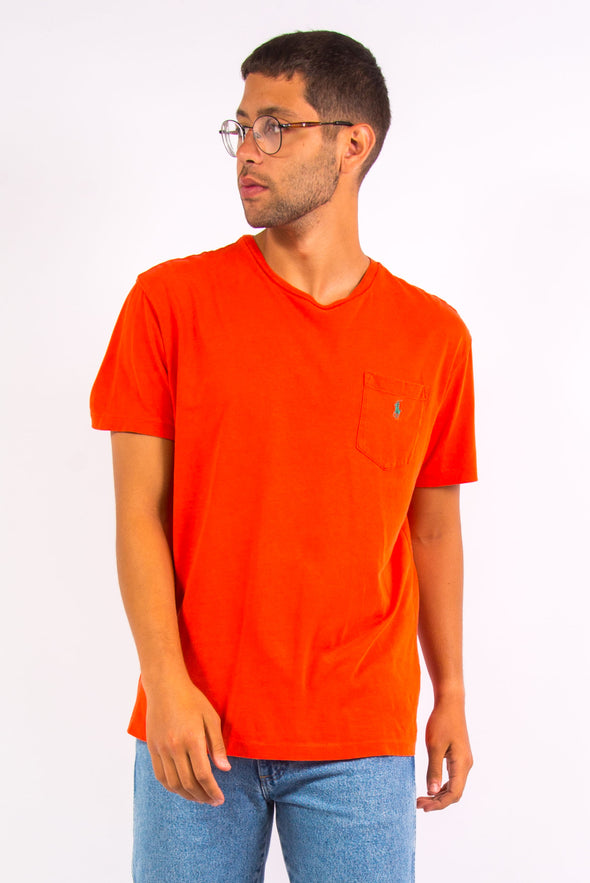 Orange Ralph Lauren Logo T-Shirt