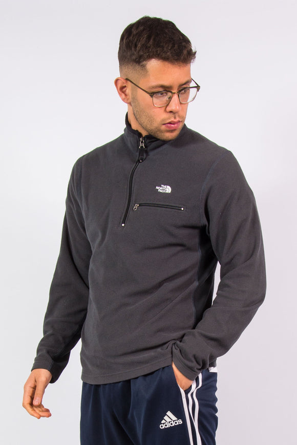 The North Face Grey 1/4 Zip Fleece