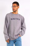 Vintage Grey Nautica Spell Out Sweatshirt