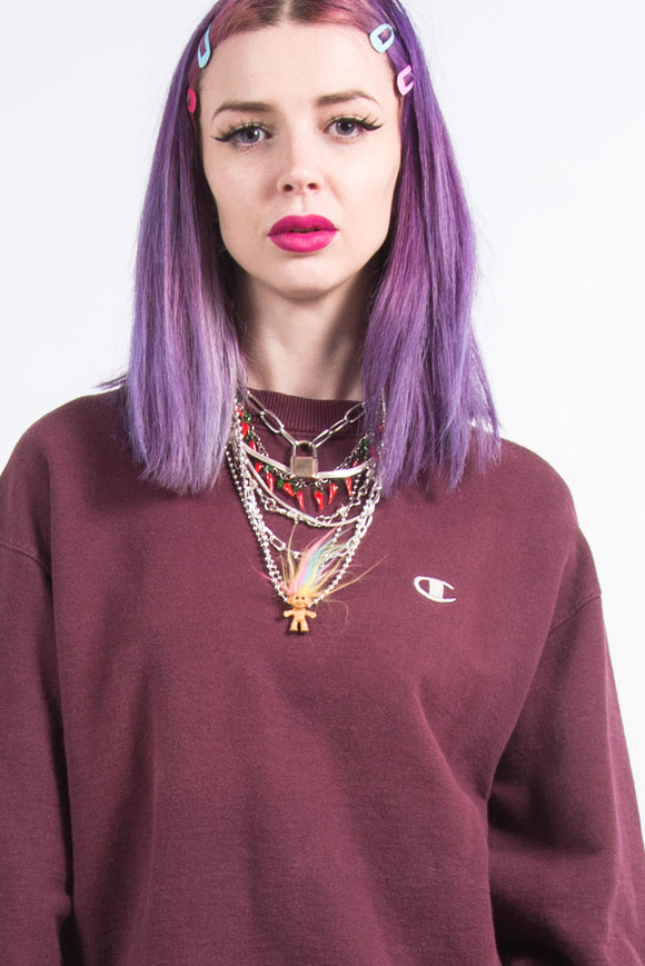 Vintage 90's Burgundy Champion Sweatshirt