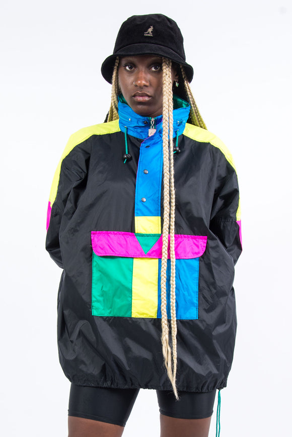 Vintage 90's 1/4 Zip Windbreaker Cagoule Jacket