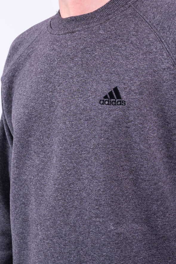 90's Adidas Grey Crew Neck Sweatshirt