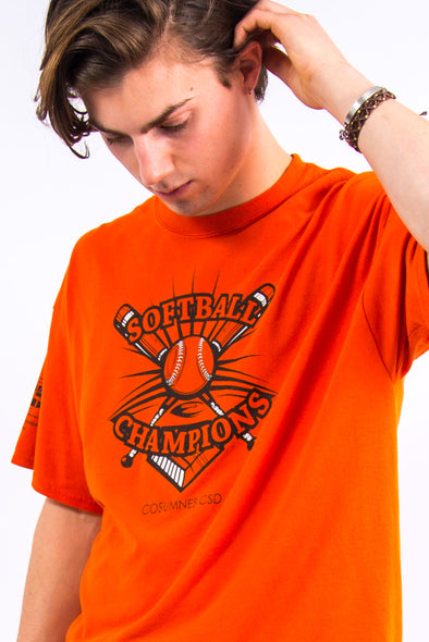 USA Orange Softball T-Shirt